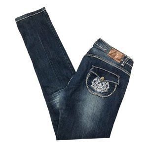 Apple Bottom Jeans Y2K Straight Leg Embroidered Pockets